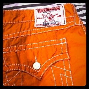 Gently used.True Religion Board shorts Like New!
